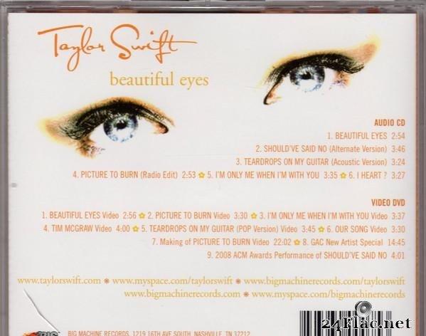 Taylor Swift Beautiful Eyes 2008 Flac Tracks Cue Lossless Music Blog