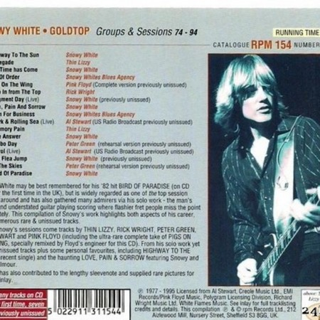 Snowy White & VA - Goldtop - Groups & Sessions '74-'94 (1995) [FLAC (tracks + .cue)]