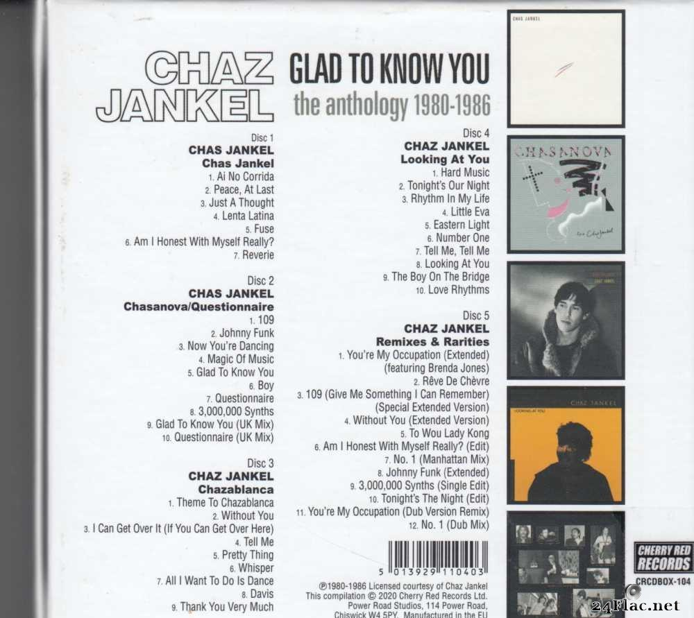Chaz Jankel - Glad To Know You (The Anthology 1980-1986) (Box Set) (2020) [FLAC (tracks + .cue)]