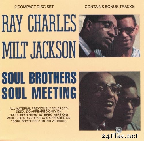 Ray Charles & Milt Jackson - Soul Brothers/Soul Meeting (1989) FLAC